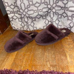 Fuzzy purple ugg slippers